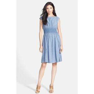Kate Spade Blair' Chambray Fit & Flare Dress sz 10